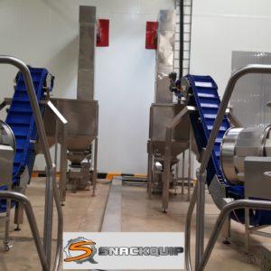 Incline Conveyor to Bulk Bag off Hopper