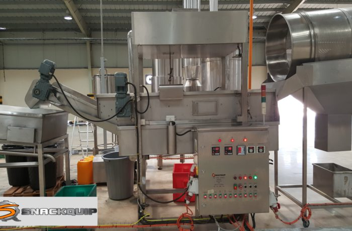 Snack Quip Continuous Hot Oil Fryer – Model 450HE (with Heat Exchanger)