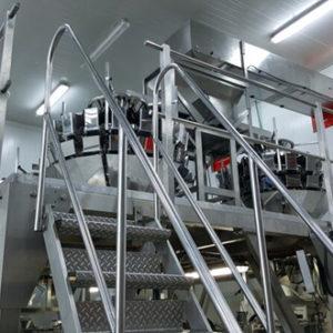 Stainless Steel platform + Stairs